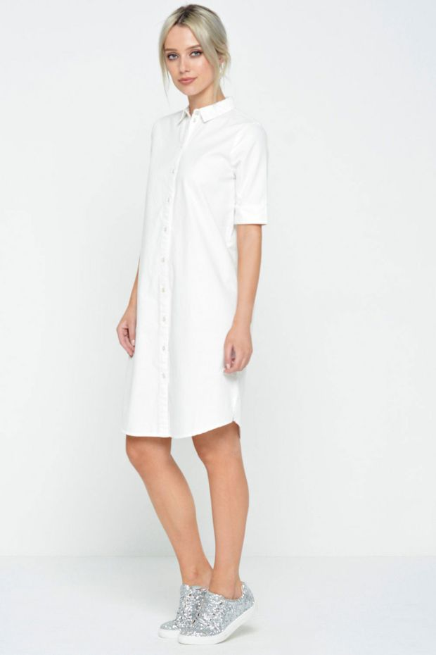 Cannes shirt dress in white €16.95.
