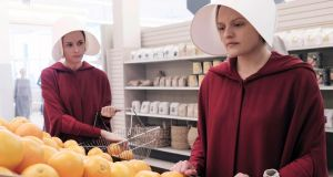 Elizabeth Moss (R) as Offred in 'The Handmaid's Tale'. Photograph: George Kraychyk/Hulu