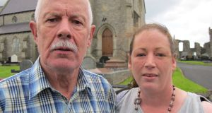 Raymond Monteith and his daughter Diane from Strabane. Raymond's brother-in-law James Fowler was shot by the IRA in Omagh.