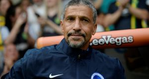"Chris Hughton: ""Fans appreciate his honesty and calmness in victory or defeat. He has never tried to make the success about him or individual players. It's about the whole team and the club."" Photograph: Reuters/Alan Walter"