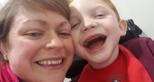 "Mairead Cullen and her son Harry (7), who has cerebral palsy and epilepsy. ""Irish Rail certainly did not seem to have any comprehension of what we might need,"" said Jonathan Cullen."