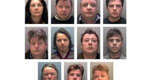 A British police handout photo of the 11 Rooney family members.