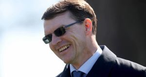 Aidan O'Brien: saw   Clemmie claim wins in  both the Grangecon Stud Stakes at the Curragh and the Duchess of Cambridge Stakes at Newmarket. Photograph: Donall Farmer/Inpho