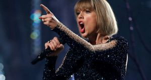 Taylor Swift: 'I felt him grab onto my ass cheek under my skirt.' File photgraph: Mario Anzuoni