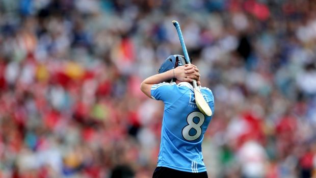 Dublin's David Keogh after the match. Photograph: James Crombie/Inpho