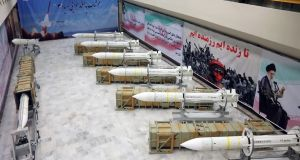 File image of Iran's newly-upgraded Sayyad-3 air defence missiles. File photograph: Iranian defence ministry/AFP/Getty Images