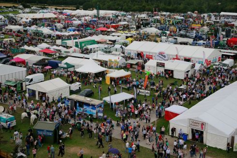 General Views of the crowds attending the Tullamore Show.  Photograph Nick Bradshaw