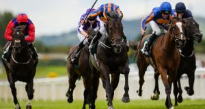 Ryan Moore and Sioux Nation took the Phoenix Stakes at the Curragh. Photograph: Tom Beary/Inpho