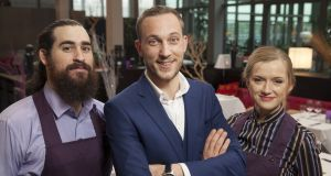 Ethan Miles, Mateo Saina and Alice Marr from 'First  Dates Ireland', made by independent producer Coco Television for RTÉ2.