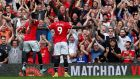 Romelu Lukaku scored a brace on his Manchester United debut. Photograph: Andrew Yates/Reuters