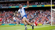 Waterford's Austin Gleeson celebrates scoring his side's third goal, a memorable individual effort, against Cork at Croke Park. Photograph: Ryan Byrne/Inpho