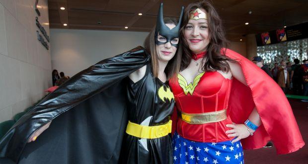 Megan Depinna As Batgirl And Karen Burke Wonder Woman At Dublin Comic Con 2017 In