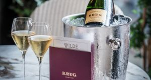 Wilde restaurant at the Westbury hotel is offering a three-course summer menu accompanied by three glasses of Krug, for €180