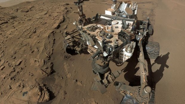 A selfie of sorts: 'Curiosity', the Mars Science Laboratory, on the surface of Mars