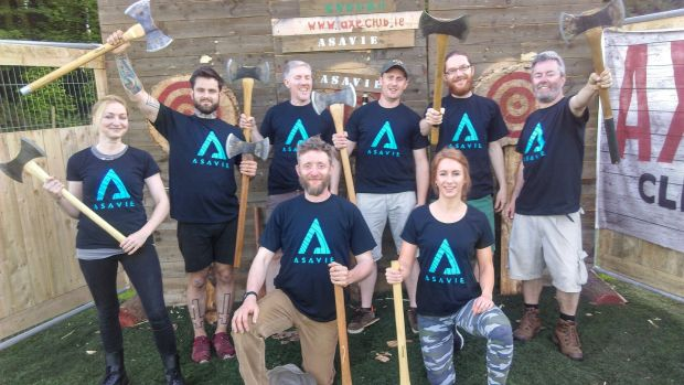 Irish-owned Asavie is one of Europe's fastest-growing tech companies. Some Asavie employees have sampled the challenges of axe throwing and formed a team.