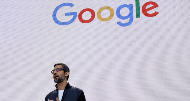 Google has gender-balanced its top team not because of incremental diversity efforts but because chief executive Sundar Pichai decided to appoint six women and seven men to run the business. Photograph: Eric Risberg