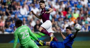 Scott Hogan of Aston Villa in action against Cardiff. The striker could be added to the Republic of Ireland squad.  Photograph:  Neville Williams/Getty Images