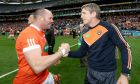 Ciaran McKeever with Armagh manager Kieran McGeeney. Photograph: Inpho
