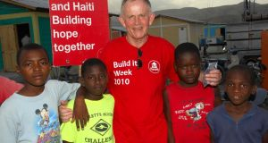 Leslie Buckley, the chairman of Haven Community Foundation, in Haiti.