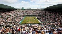 Number one court during this year's Wimbledon Championships. Photograph: Getty Images