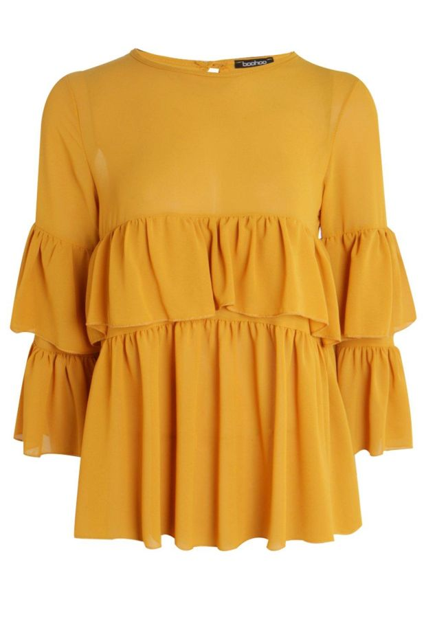 Bounce with flounce in this blouse for €22 from boohoo.com.