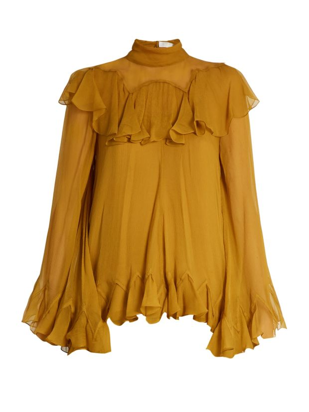 Crepon blouse for €1,572 from Chloe.