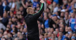Neil Lennon will face no action from police over his behavior during Hibernian's win over Rangers at Ibrox. Photograph: Mark Runnacles/Getty