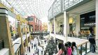 Victoria Square Shopping Centre in  Belfast. Shopper footfall in the North fell in July by 2.3%  on main shopping streets and by 1%  in shopping centres
