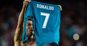 Cristiano Ronaldo has been banned for five matches following his sending off in the Spanish Super Cup. Stringer/AFP