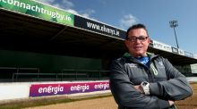 The new Connacht coach, Kieran Keane, at the  Sportsground, Galway. Photograph: INPHO/James Crombie