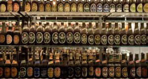 Beer museum in Carlsberg headquarters in Copenhagen. The company is   aiming to cut as much as 2 billion kroner of costs by the end of this year.  Photograph: Fabian Bimmer/Reuters