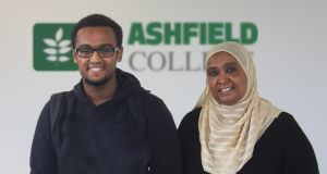 Muhammad Mahmoud (17), from Ballycullen in Dublin 24, with his mother Dr Ayda Elkhalifa. The Ashfield College is one of 13 students nationally to  score eight grade ones at higher level.
