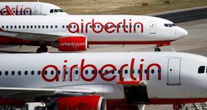 Air Berlin filed for bankruptcy protection after key shareholder Etihad Airways withdrew funding following years of losses. Photograph: Axel Schmidt/Reuters