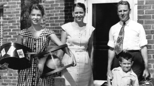 Four-year-old Al Gore with his family in Tennessee. From left: sister Nancy (14), mother Pauline and father Al Gore snr. Photograph: Getty Images