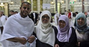 Ibrahim Halawa with his sisters Fatima, Omaima and Somaia. Photograph: Halawa family