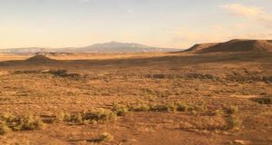 A view of the Utah desert from the Amtrak train that crosses the Rocky Mountains on its way from Denver to Salt Lake City. Photograph: Suzanne Lynch