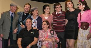 Shannon Murphy (centre back in pink) with the Irish Theatre Players in Perth.