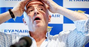 "Michael O'Leary: when Ryanair joined a campaign to retain Berlin's second airport, mayor Michael Müller savaged them for pushing an ""aggressive"" business model. Photograph: Robin Van Lonkhuijsen/EPA"