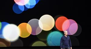 Chief executive Tim Cook: in a departure for the tech giant, Apple is expected to spend $1bn on original entertainment content. Photograph: David Paul Morris/Bloomberg