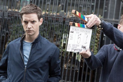 CLASS ACT: Writer and actor Emmet Kirwan pictured on the set of Dublin Oldschool.
