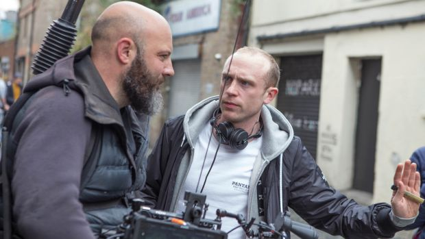 Cinematographer JJ Rolfe and director and co-writer Dave Tynan on set of Dublin Oldschool. Photograph: Allen Kiely