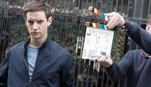Co-writer and star Emmet Kirwan gets in character on the set of Dublin Oldschool, currently filming in the capital.