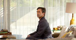 Jon Hamm as a computer simulation of a woman's dead husband in Michael Almereyda's indie film   Marjorie Prime. Photograph: Jason Robinette.