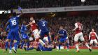 The season kicked off with a goal fest between Arsenal and Leicester. Photograph: Getty Images