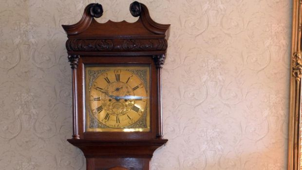 My dad's old grandfather clock in the hall keeps perfect time and its tick tock heartbeat lulls anyone who sits near it into a deep silence. Photograph: Cyril Byrne