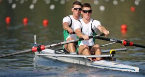 Mark O'Donovan  and Shane O'Driscoll: will be medal contenders at the World Rowing Championships  in Sarasota-Bradenton in Florida.  Photograph:  Philipp Schmidli/Getty Images