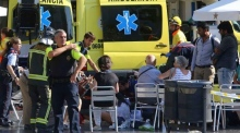 Scenes show aftermath of Barcelona attack