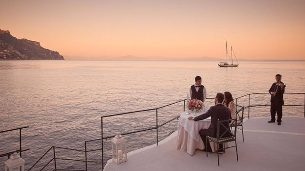 "On the Amalfi Coast in Italy, the Hotel Palazzo Avino's ""Sea of Love"" dining experience aims to suspend guests between land and sea."