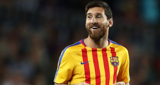 57724d675 Barcelona s Lionel Messi went past a career landmark of 500 goals for the  club. Photograph