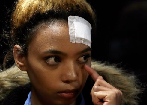 I'M WATCHING YOU: South African model Gabriella Engels (20) who has accused Zimbabwe's first lady of assault has been offered legal assistance by a prominent lawyer Gerrie Nel, who secured the murder conviction of Oscar Pistorius. Photograph: Themba Hadebe/AP